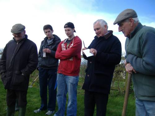Chairperson of the Carlow Beekeepers Association giving a quick speech!